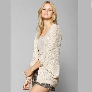 UO Staring at Stars Ava Cardigan Ivory Cream Knit